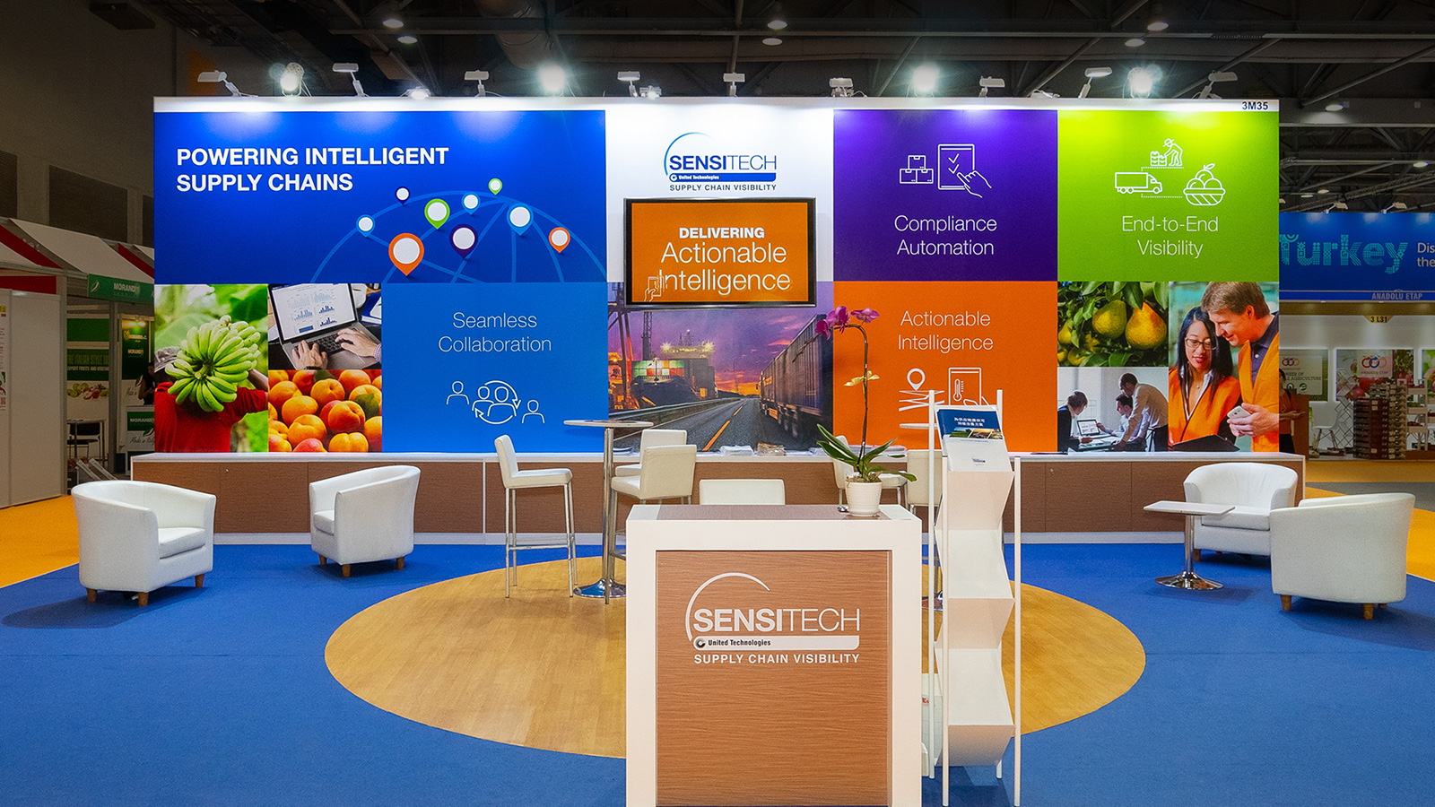 Sensitech Exhibit Booth