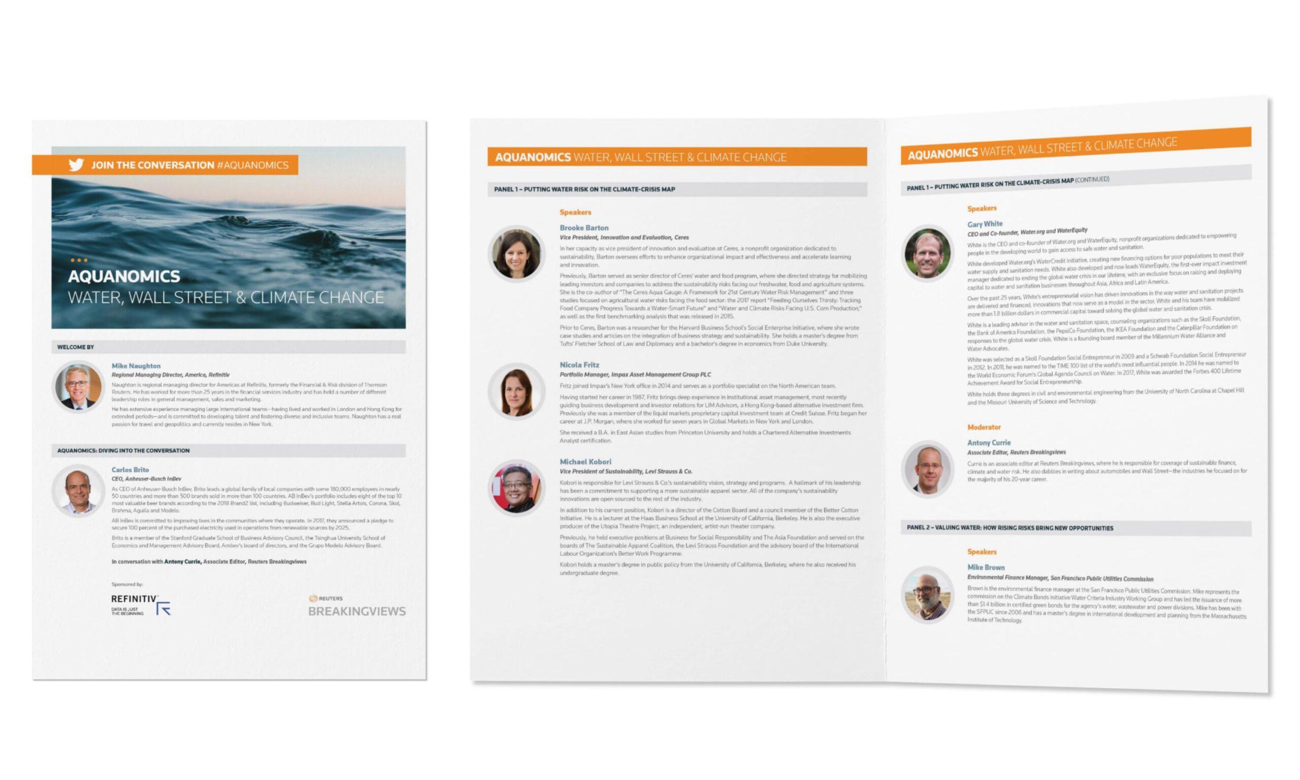 Aquanomics Water Supply Forum Bio