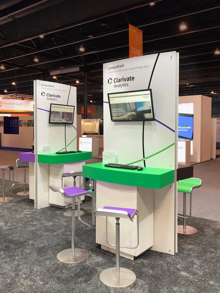 CompuMark Exhibit Booth