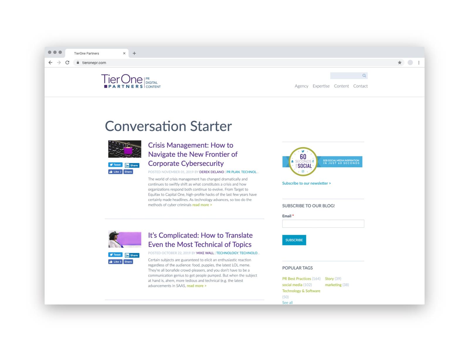 TierOne Website
